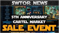 SWTOR 5th Anniversary Cartel Market Sale Event Announcement