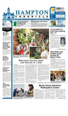Front Page, Hampton Chronicle, Iowa Newspaper #pagedesign #graphicdesign #newspaper #newspaperdesign #newspaperpagedesign #newspaperpagelayout