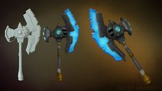 Wildstar inspired hand painted weapon by nicname48.deviantart.com on @deviantART