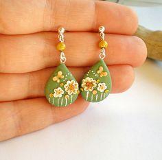 cute poly clay earrings