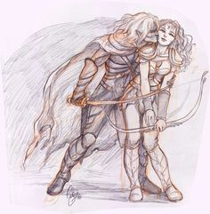 Oh Drizzit and Catti Brie. What a power couple!  A remarkable shot by AniHime.deviantart.com on @DeviantArt