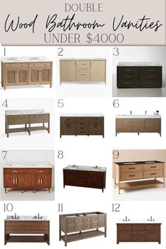 48 of the best readymade wood bathroom vanities ranging from $360 to $3700 for a classic bathroom renovation that lasts.