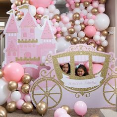 Make dreams come true when you add our Royal Princess Carriage Photo Op to the party. This pink and gold fairytale themed photo op allows your little princess to look as though they are riding in a carriage. Royal Princess Birthday, Princess Birthday Party Decorations, 1st Birthday Party For Girls, Princess Theme Party, Disney Princess Party, Birthday Party Themes, Disney Princess Carriage, Birthday Crowns, Cinderella Party