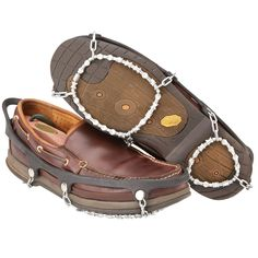 Diamond Grip Ice trekkers - perfect if you need a little extra grip on an ordinary pair of shoes. :)