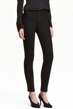 Skinny Regular Ankle Jeans - Черный деним - Женщины | H&M RU 1