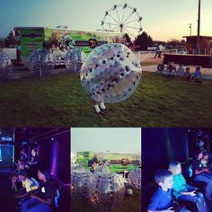 Having fun with Knockerballs and Dozersgames at the Cherry county fair