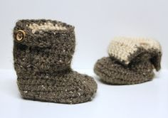 Toddler Boots Crochet Flap Boots Toddler Fold Over by makinitmama,