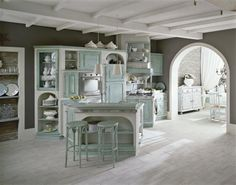 Sogno Rustic Kitchen, Kitchen Dining, Dining Table, Shabby Home, Kitchen Reno, Kitchen Organization, Sweet Home, House Design, Interior Design