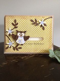 Birthday Owl Spinner Card