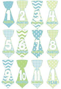 Noeud papillon ce mois-ci bébé garçon autocollants cravate Baby Month Stickers, Shower Bebe, Dividers, Little Boys, Printables, Babies, Stuff Stuff, Taking Pictures, Stickers