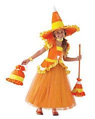 candy corn witch girls costume