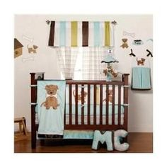 The One Grace Place Puppy Pal Crib Bedding Set is an adorable way to dress your little dog lover's nursery. With puppy appliques and dog bone patterns, the loveable bedding set is a cute way to decorate your bundle of joy's bedroom.
