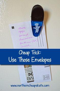 Cheap Trick: Use Those Envelopes