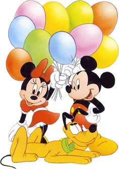 disney babies clipart | Turma do Mickey da Disney fazendo Aniversário | Decoupage.net.br