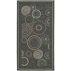 Safavieh Courtyard Black/Sand 2 ft. x 3.6 ft. Area Rug - CY1906-3908-2 at The Home Depot