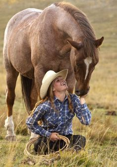 Cute :) Cowgirl and her horse