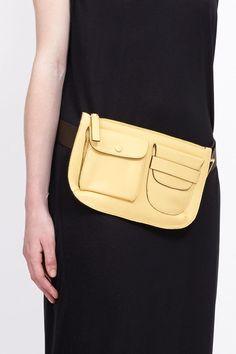 Marni Belt Bag (Lemon / Tan)