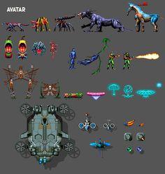 top down pixel art | Avatar The Game Sprites Icon, Pixel Art, Buddy Icons, Forum Avatars