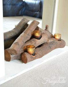 Stunning Battery Operated Fireplace Logs And Best Ideas Of Easy DIY Faux Insert With Real Fireplaces 2