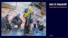 Jazz in Aquarell, Bilder von Frank Koebsch