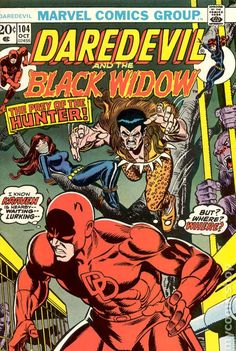 The Black Widow and Kraven the Hunter in Daredevil Issue 104 Vol 1 Marvel Comics Art, Marvel Comic Books, Comic Book Heroes, Marvel Heroes, Comic Books Art, Comic Art, Marvel Fan, Dc Universe, Kraven The Hunter