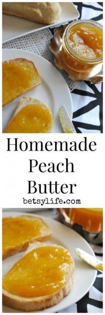 Homemade Peach Butter Recipe.