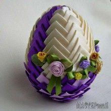 Пасхальные яйца в технике артишок