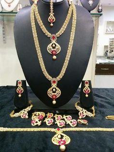 Bridal-ruby-jewellery-set-rs-designs.jpg (720×960)