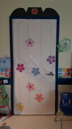 Monster's Inc decorated door