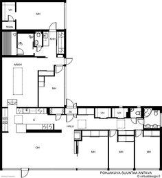 Kontionkuja 1 Heikki ja Kaija Siren 1963 Siren Design, Building Plans, Floor Plans, How To Plan, Construction Drawings, House Floor Plans, Architecture Plan