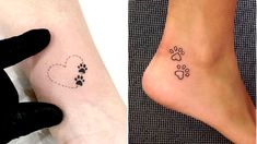 47 Tiny Paw Print Tattoos For Cat And Dog Lovers - Tatuajes perros - Populer Tattoo Pin Share Cat Paw Print Tattoo, Animal Lover Tattoo, Cat And Dog Tattoo, Cat Paw Tattoos, Puppy Tattoo, Animal Tattoos, Mouse Tattoos, Small Dog Tattoos, Tattoos For Dog Lovers