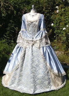 """""""Lace Overlay"""" Marie Antoinette Gown"""