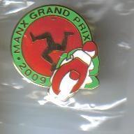Isle Of Man Grand Prix badge 2009 tt races. BNIP