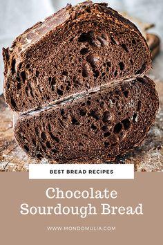 Sourdough Starter Discard Recipe, Sourdough Bread Starter, Sourdough Recipes, Sourdough Bagels, Baking Flour, Bread Baking, Cocoa Bread, Chocolate Bread Recipe, Cocoa Powder Recipes