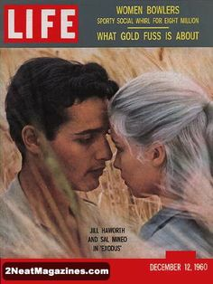 Life Magazine December 12, 1960 : Cover - Jill Haworth and Sal Mineo in Exodus.
