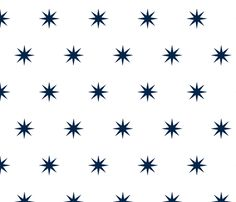 Navy Starburst fabric by veryfondof on Spoonflower - custom fabric