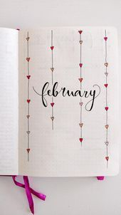 My February cover page! (Inspo from Pinterest): bulletjournal #bulletjournal #D