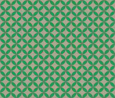 circle_green_leaf_linen wallpaper by holli_zollinger for sale on Spoonflower - custom wallpaper