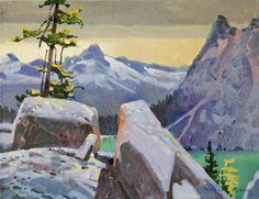 "Robert Genn FROM MCARTHUR PASS BREAKOVER / Canada House Gallery -  acrylic, canvas 14"" x 18"""