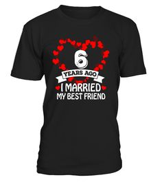 6th Wedding Anniversary Gift Ideas. Husband And Wife T-Shirt