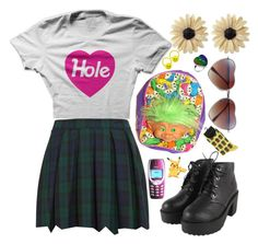 """school ain't cool"" by sophiesardonyx ❤ liked on Polyvore featuring Pretty Vacant, Rock 'N Rose and BP."