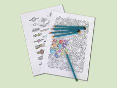 Gemstones coloring page