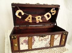 Op Shop ideas. A Place for Cards. Old suitcase or box type thing.
