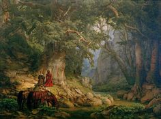Karl Friedrich Lessing Die tausendjährige Eiche (The thousand-year-old oak), 1837 Art Paintings For Sale, Indian Art Paintings, Carl Friedrich, Traditional Paintings, Fantasy Art, Scenery, Poster, Photo Wall, Around The Worlds