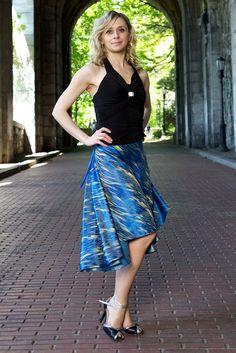 Tango Dance Skirt  Blue Sky by TheGiftofDance on Etsy, $65.00