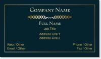 black blue Signature Business Cards
