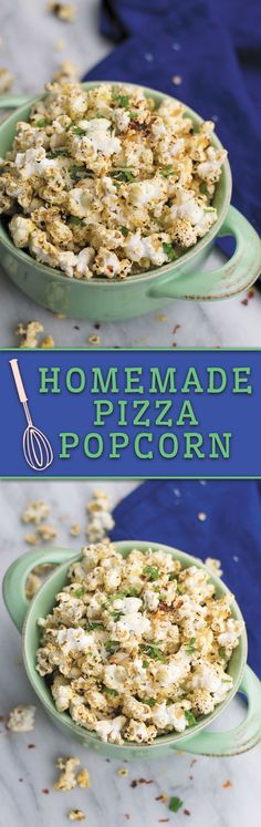 Homemade Pizza Popcorn - Craving pizza but not the extra calories? Then this PIZZA flavored popcorn is way healthier, takes just few minutes and is totally addicting! Healthy Homemade Pizza, Homemade Popcorn, Flavored Popcorn, Healthy Vegan Snacks, Diet Snacks, Popcorn Flavours, Popcorn Snacks, Popcorn Recipes, Popcorn Kernels