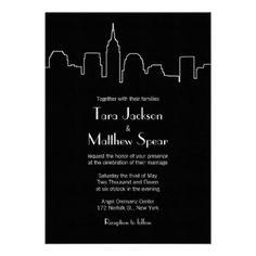 New York Wedding Invitations - City Skyline