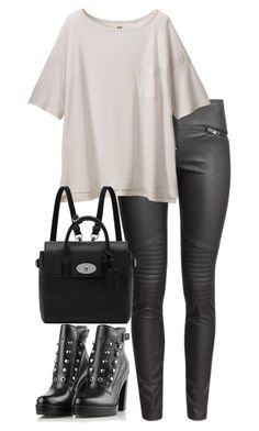 """""""Untitled #2606"""" by elenaday ❤ liked on Polyvore featuring H&M, Uniqlo, Mulberry, Diesel, women's clothing, women's fashion, women, female, woman and misses"""