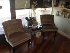 Beautiful new chairs @ Claramay Beauty